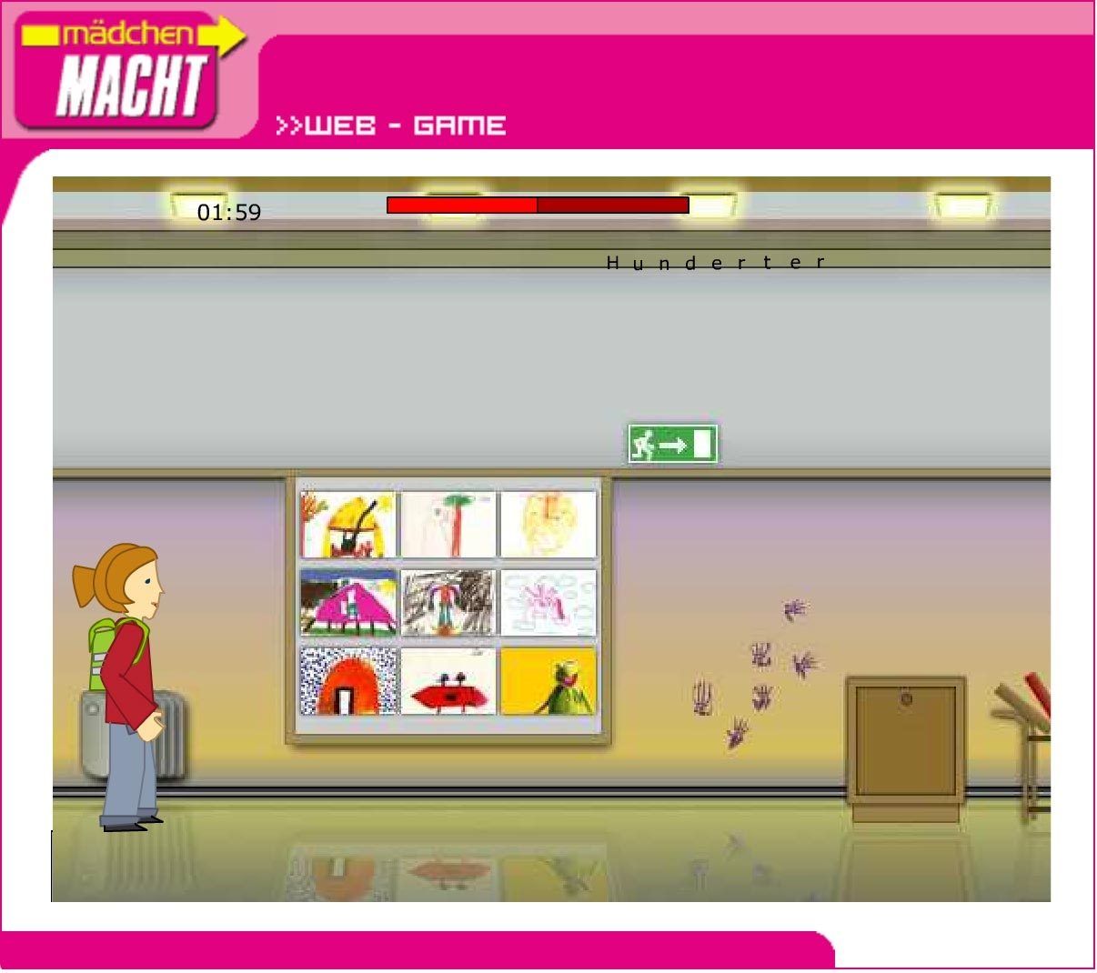 Mädchen macht! | maedchenmacht.at | 2002 | Game (Screen Only 04) © echonet communication