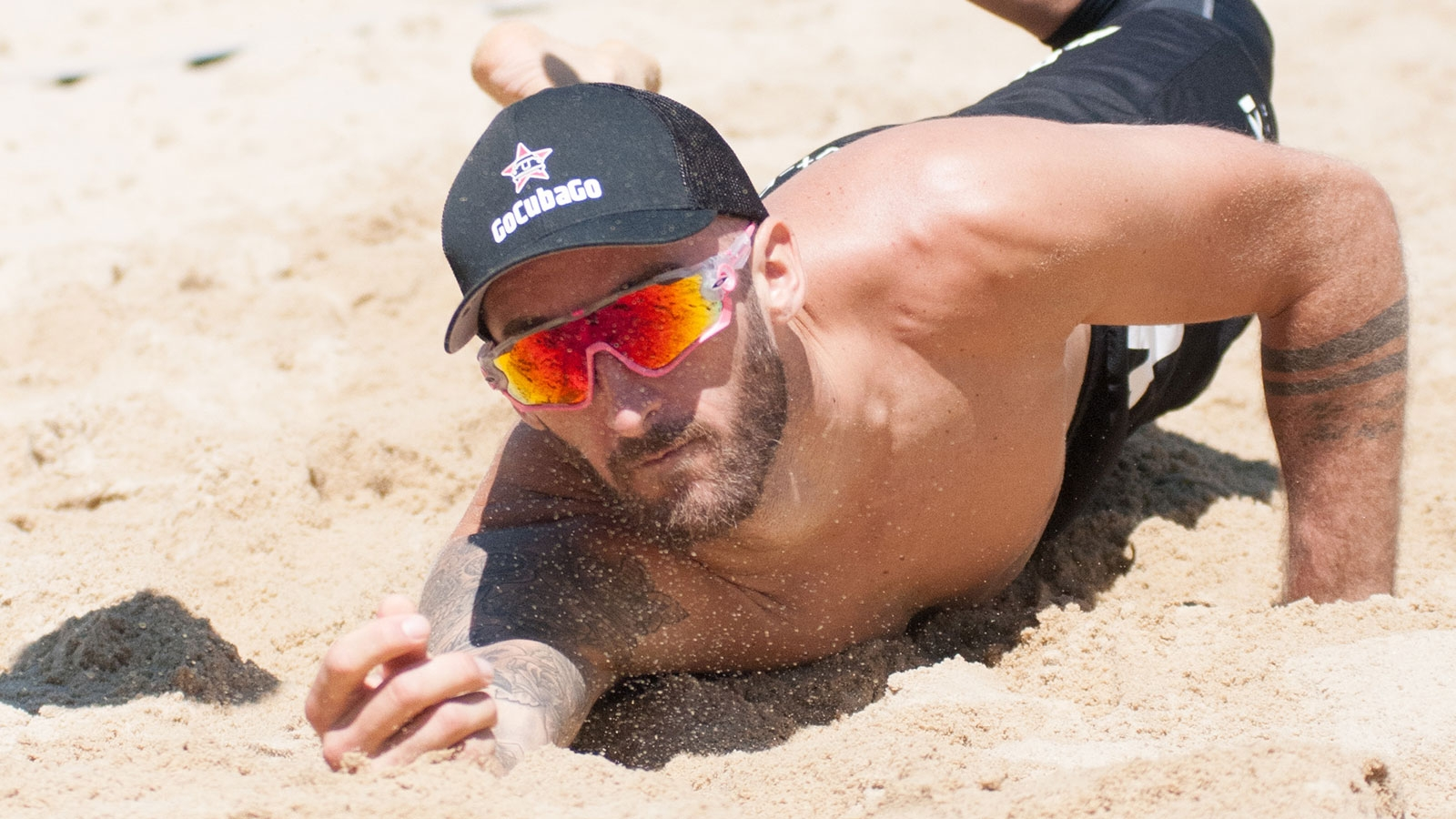 Sponsoring Go Cuba Go - Beachvolleyball-Team Winter-Hörl | 2019 (Tobias Winter, Sand) © Team Winter Hörl