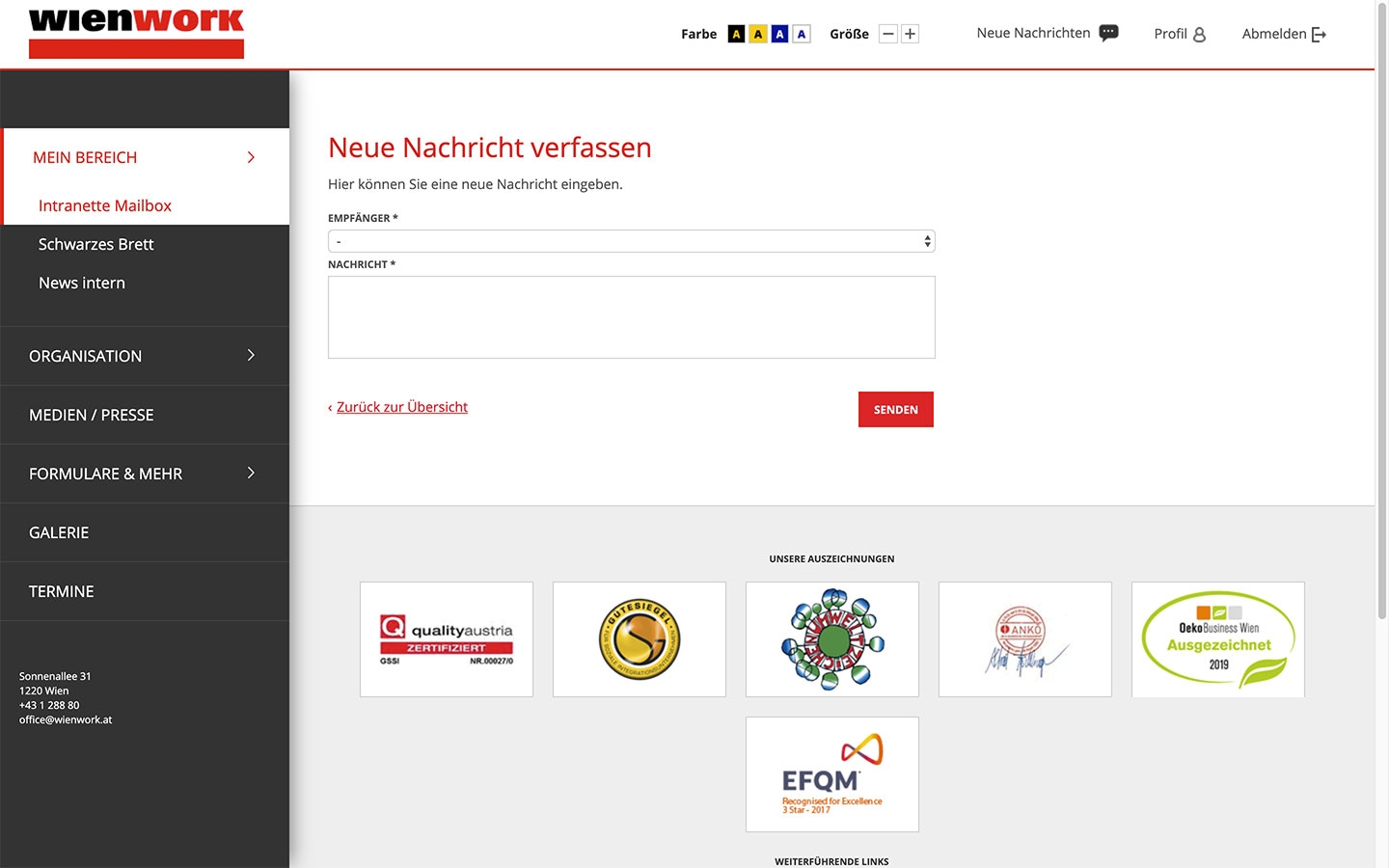 Wien Work Intranet | intranet.wienwork.at | 2018 (Screen Only 08) © echonet communication