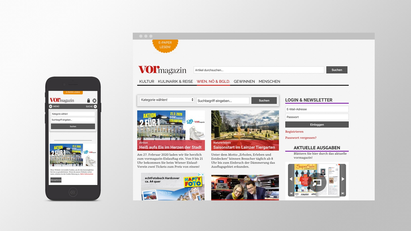 Vormagazin | vormagazin.at | 2014 (Phone Browser) © echonet communication